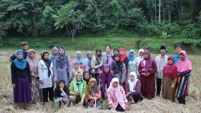 SPPB Kadupandak bersama Mari suzuki dan tim Bina Desa dilahan pertanian alami (photo oleh John Sinulingga)